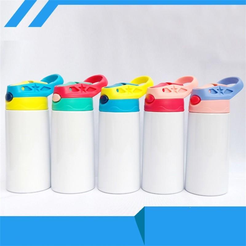 Sublimação Straight 12oz Kids Garrafa de Água Aço Inoxidável Copa Sippy Double Wall Kids Cups Cute Kids Tumbler 63 v2