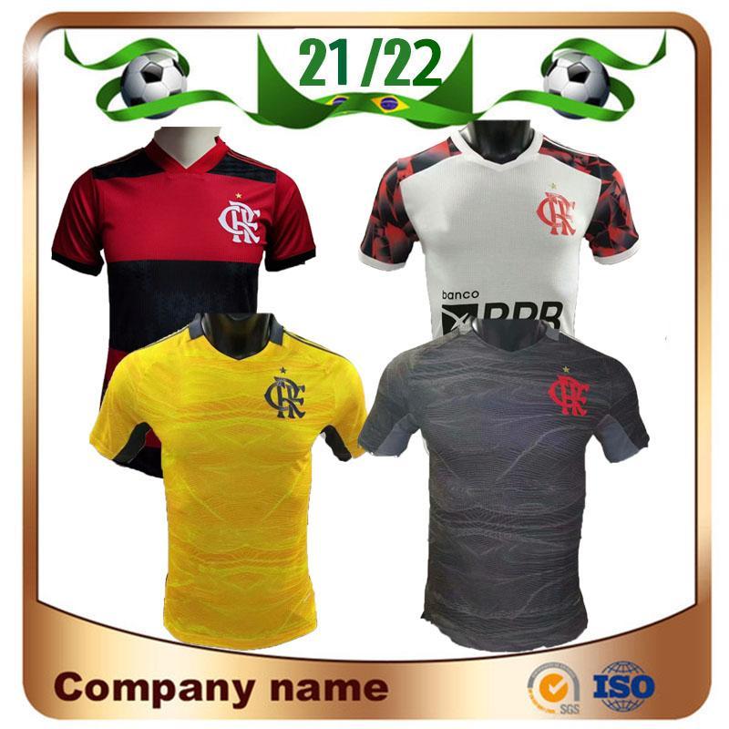21/22 Versão do jogador Flamengo Home Soccer Jersey 2021 Gabriel B. Diego E.Ribeiro Gabi Camiseta de Arrascaeta Gerson B.Henrique Futebol Uniformes