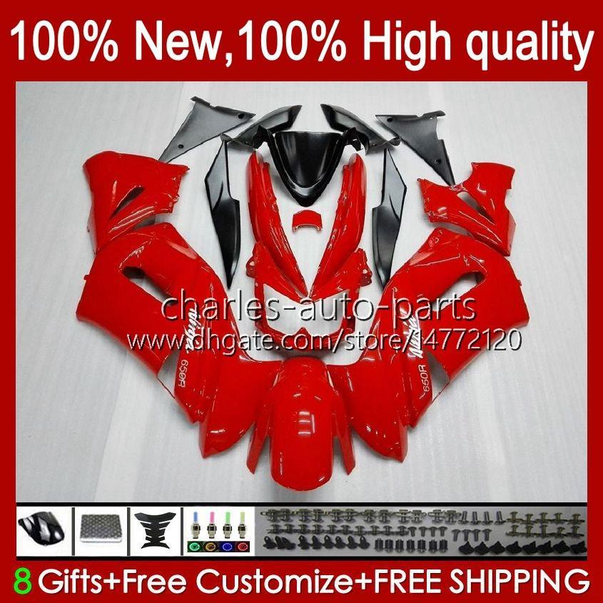 Factory Factory красный новый комплект для Kawasaki Ninja 650R ER 6F ER 6 F ER6F-650R 29HC.39 ER6 F 650 R ER6F 06 07 08 ER-6F 2006 2007 2008 Full Body