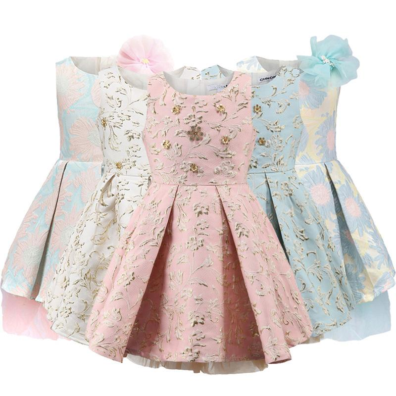 Childdkivy Girls Princess платье Детские платья для девочек Детские вечеринки Платье для вечеринки Цветочная девушка платья одежда 3-10Y Vestidos 210303