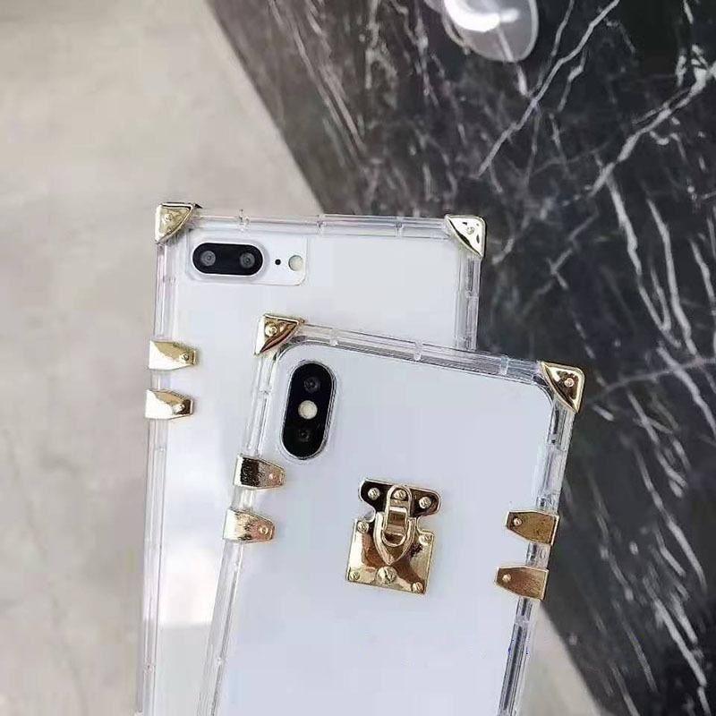 أعلى أزياء مصمم الحالات الهاتف لفون 11 12 برو ماكس 7 8 زائد XS XR XSMAX جودة عالية شفافة TPU الهاتف المحمول حالة الغطاء