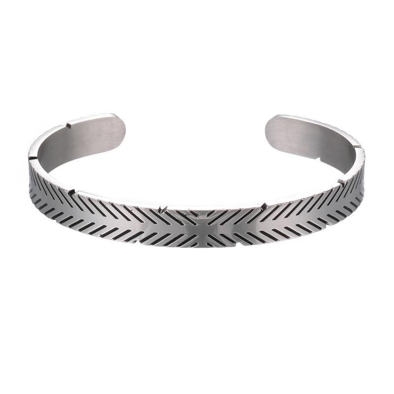 Charm Bilezikler Basit Viking Tasarım Bilezik Bileklik Antik Titanyum Çelik Manşet Bileklik Erkekler Için Açık Hip Hop Takı Bilezik