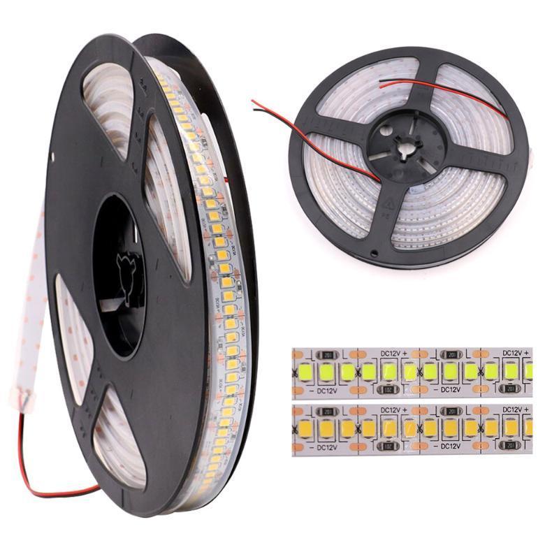 RGB LED Strip Light DC12V 2835 LED de cinta LED flexible 234/240 LEDS / M Cinta impermeable SMD2835 5M Stripe Decoración del hogar