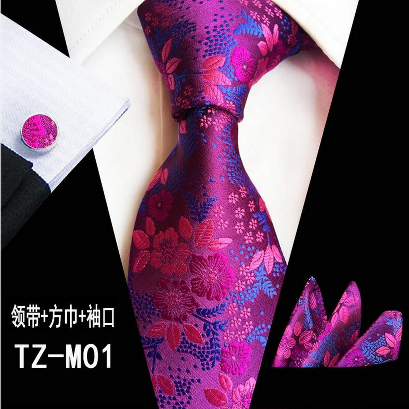 Мода мужская галстука набор шелковый 8см зеленый красный цветочный плед жаккардовые карманные квадратные галстуки костюм бизнес свадебное платок связей