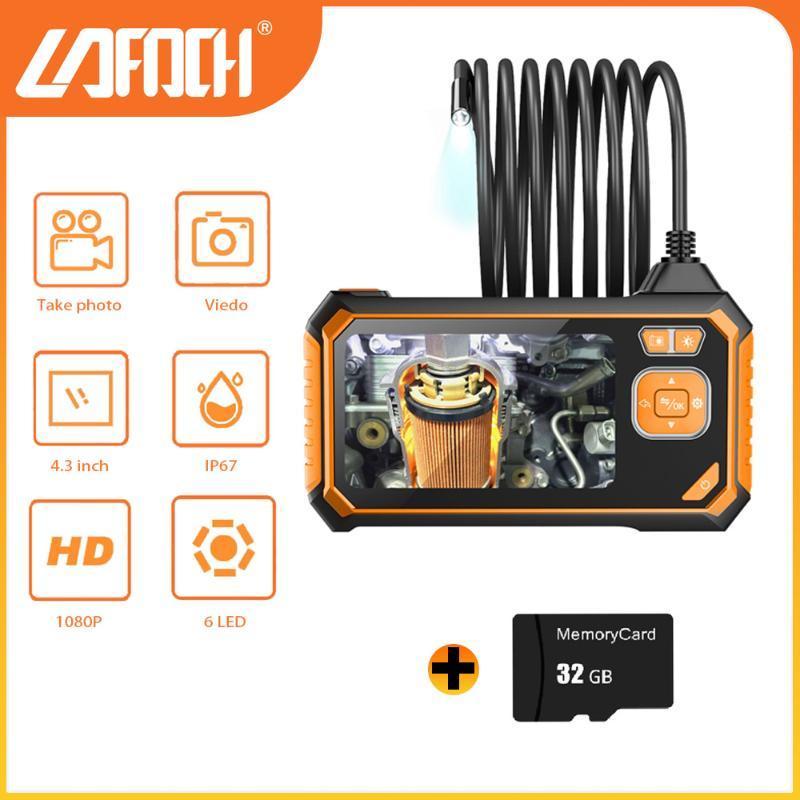 HD 8mm Beruf Industrial Endoskop Digital 4,3 Zoll LCD IP67 Wasserdichte 5m Kabel Abwasserablauf Inspektion Kamera Boreskop