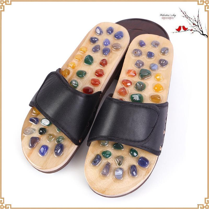 Acupoint Slippers for Men Woman Sandals Chinese Feet Medical Acupressure Rotating Foot Massage Unisex Shoes Pav9