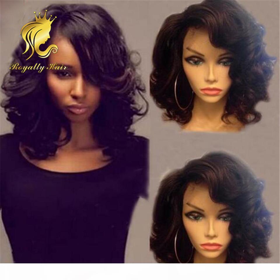 Perruques pour cheveux humains péruviens Perruques carrosseries Body Wave Wavy Dentelle Perruques avant Glresse pleine dentelle haute dentelle humaine Bob perruques 130% de densité blanchies nœuds