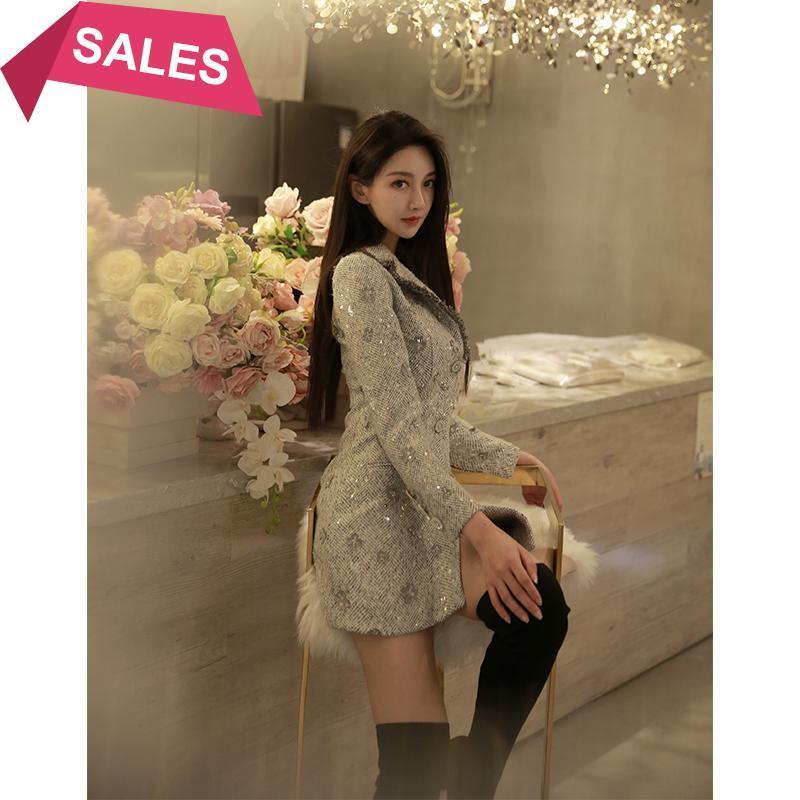 Vestido de lana dividida de la tasel romántica de la niña pequeña
