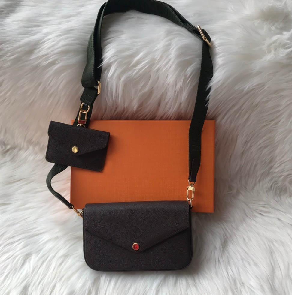 Cadeia de luxo bolsa de ombro 2 peças conjunto mulheres handbags senhora moda cadeia bolsa senhora bolsa de ombro bolsa bolsa de mensageiro cartão titular 80091