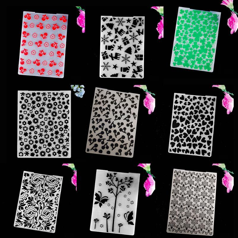 Craft Tools AZSG Embossing Folders Collection 2 Of Colorful For Scrapbook Folder DIY Card Tool Plastic Template