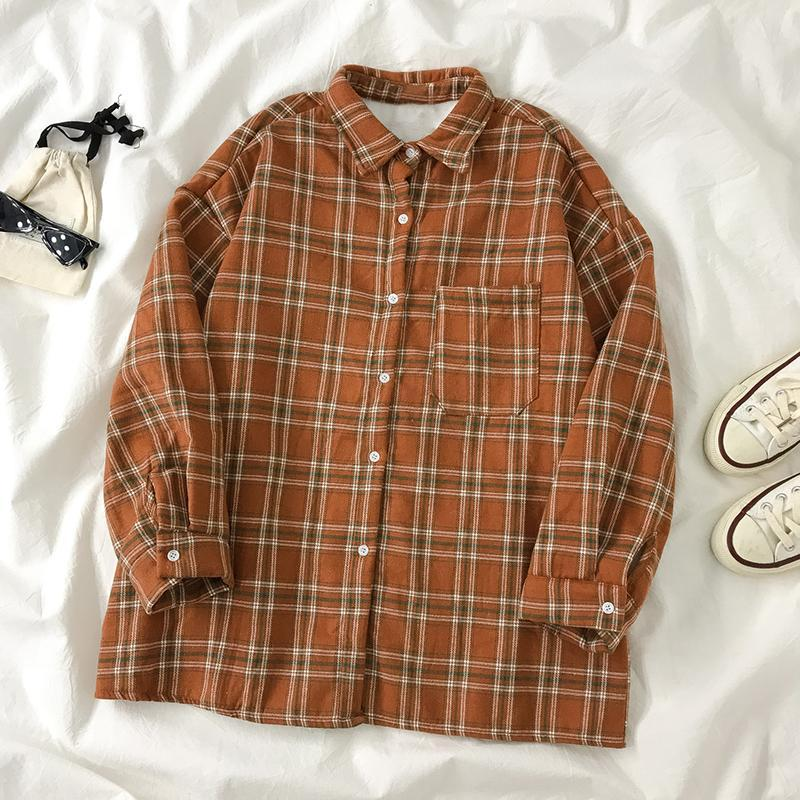 Ретро плед плюс бархатная рубашка женская осень и зима 2021 дизайн смысл ниша новая с длинными рукавами свободная верхняя рубашка куртка