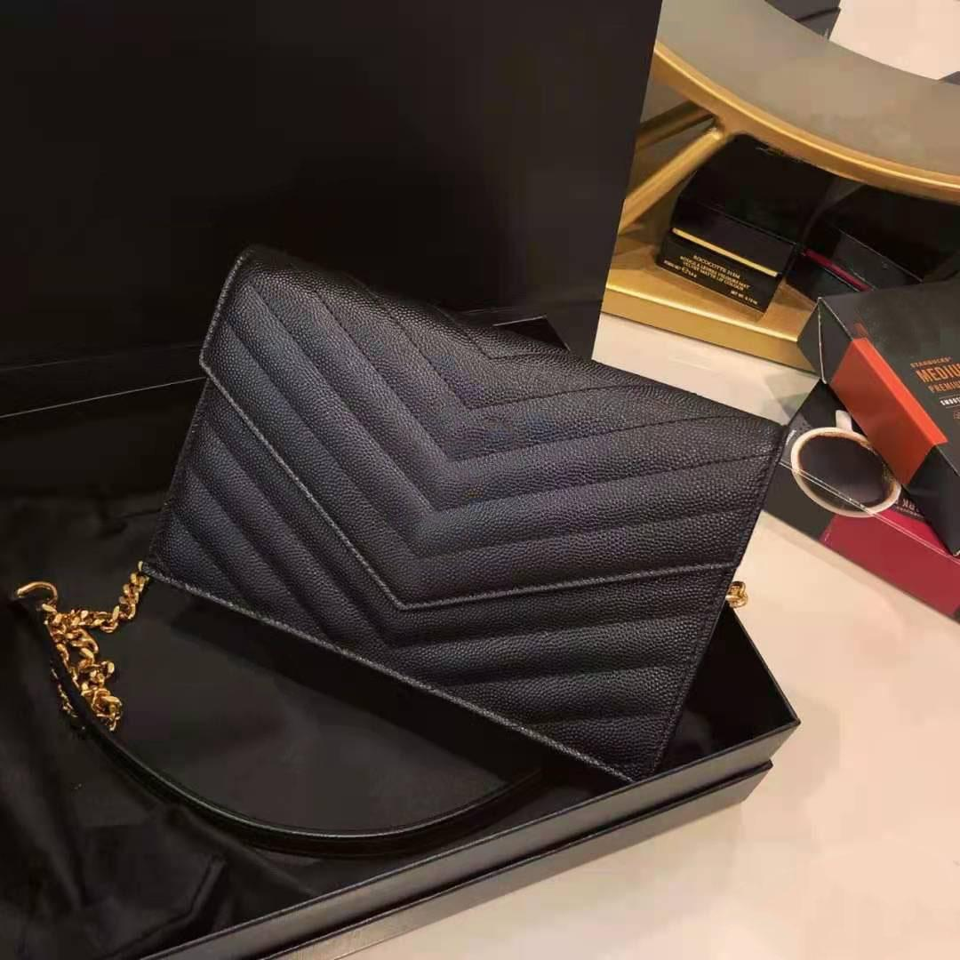 Luxurys مصمم ريترو المرأة سلسلة مغلف حقائب النساء حقائب الكتف الفاخرة بو الجلود حقيبة crossbody كبيرة اليد سيدة محفظة