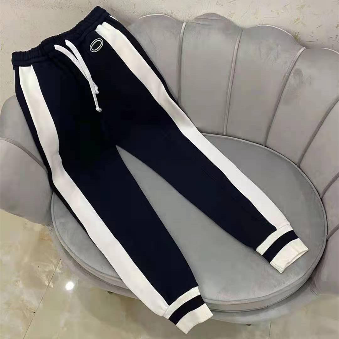 Femmes chaudes Jersey Piquey PiquetJogging Pantalon Cordon Zip Jacket Jacket Bouton Designer Lady Vintage Sportswear Stripes Coupes de tricot de côtoyages