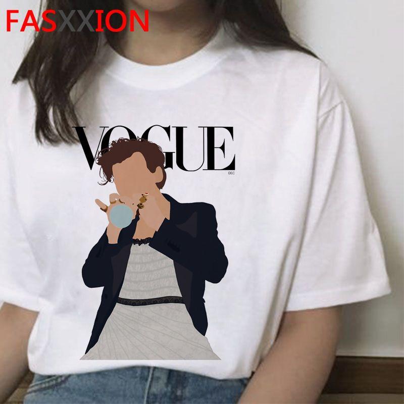 Harry Styles Çocuklar Ile İnsanlara Tedavi T-Shirt Kadın Grafik Güzel Çizgi T Gömlek Harajuku Estetik Tshirt Ullzang Üst Tees Kadın C0220