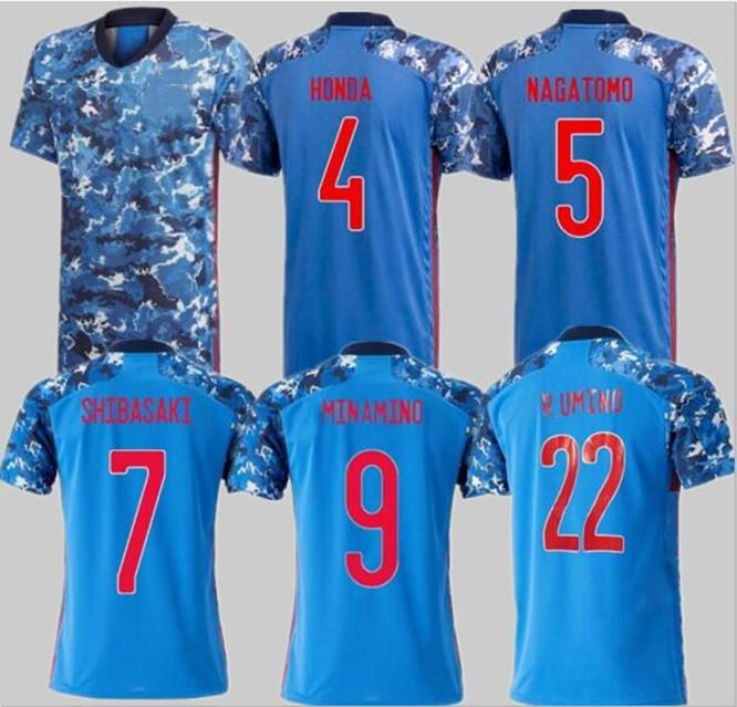 20 21 Giappone National Team Okazaki Kagawa Mens Soccer Jerseys Honda Hasebe Nagatomo Home Blue Away Bianco Camicie da calcio Camicie Uniforme