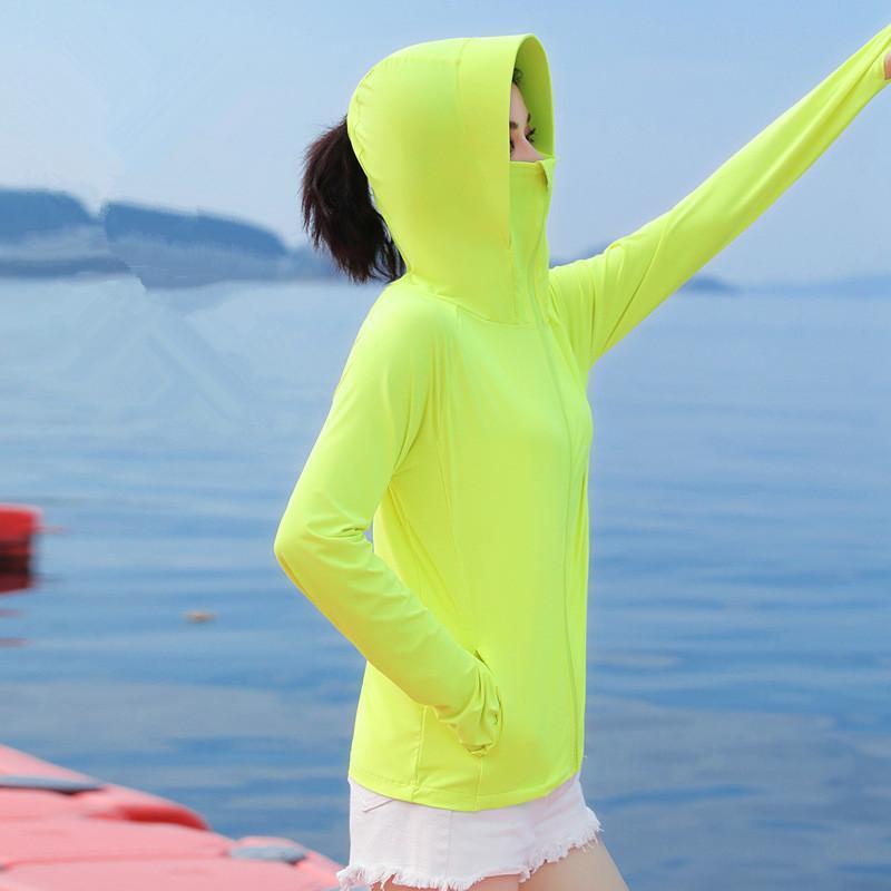 Yhavaton UV Sun UPF50 + Abbigliamento di protezione 2021 Nuovo Abbigliamento Beach Abbigliamento allentato Beach Abbigliamento Abbigliamento sottile Camicia estiva Donna Cappotto Camicetta