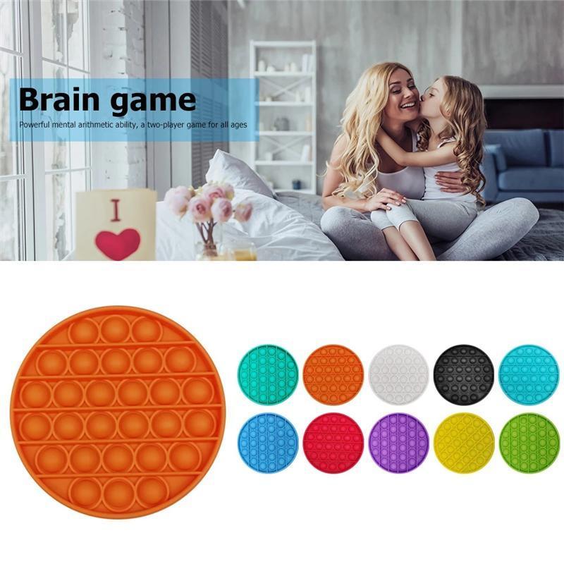 푸시 버블 fidget 감각 장난감 자폐증 특별 요구 스트레스 릴리버 스트레스 및 초점 증가 교육 장난감 부드러운 짜내 장난감