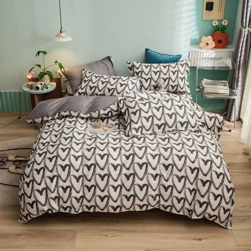 مجموعات الفراش Svetanya طباعة مجموعة أغطية السرير (غطاء وسادة آلة لحاف) واحدة مزدوجة الملكة الملك الحجم