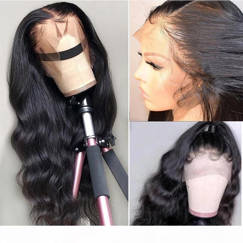 Парики для волос человека кружева фронт человеческие волосы парики волос 13 * 4 кружева закрытие парик бразильский парик волны тела для чернокожих женщин Modernshow кружевной фронтальный парик