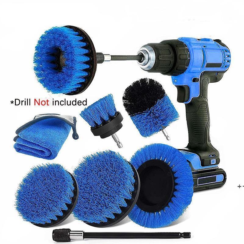 Power Scrub Brush Head Drill Pennelli per la pulizia per bagno Doccia piastrelle Grout Powers Powers Scrubber FWF10205