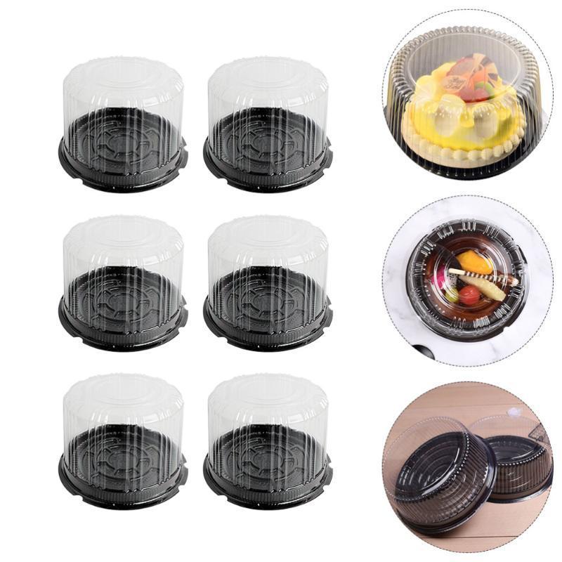 1 установить высокие купольные ящики торта мусс упаковочные коробки для хлебобулочного дома (черный)