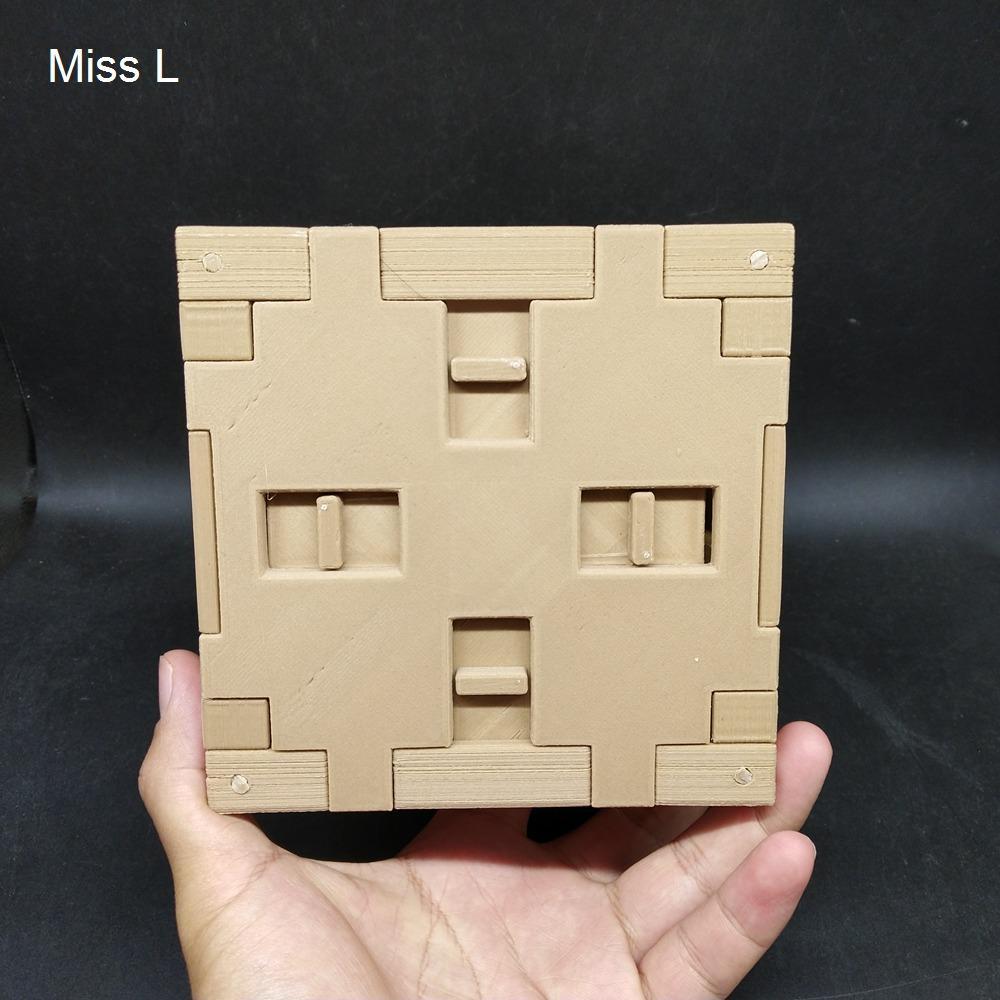 من الصعب الدماغ دعابة لعبة سر لغز مربع لعبة نموذج هدية طفل pla المواد