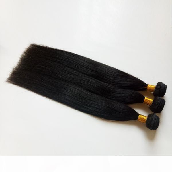 Cuticule pleine cuticule non traitée véritable haut de gamme brésilienne vierge cheveux de cheveux 8-26inch soyeux cheveux raides tisse rare et la meilleure qualité des cheveux de remy indien