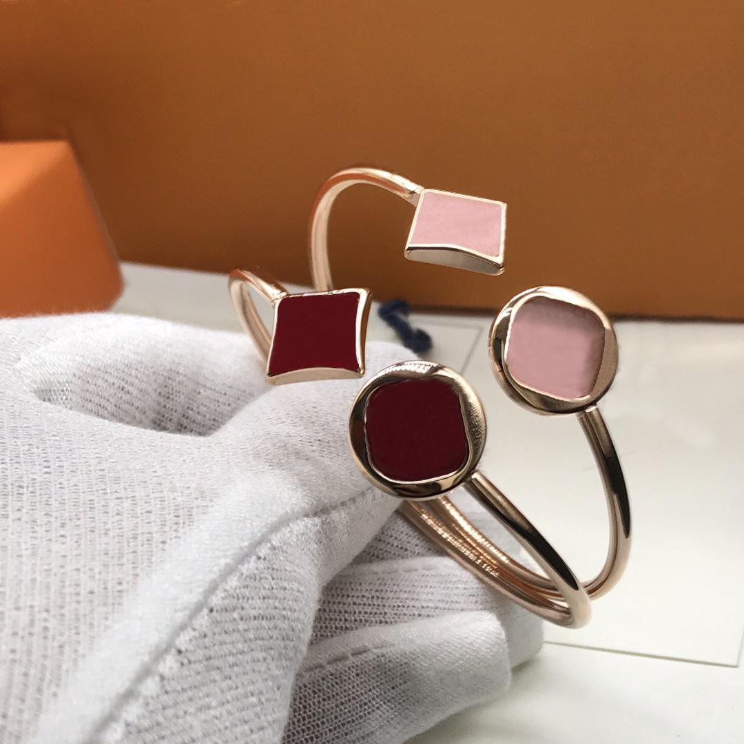 Унисекс браслет мода ремень браслеты клевера каменные украшения для мужчины женщина регулируемый 12 цвет с коробкой