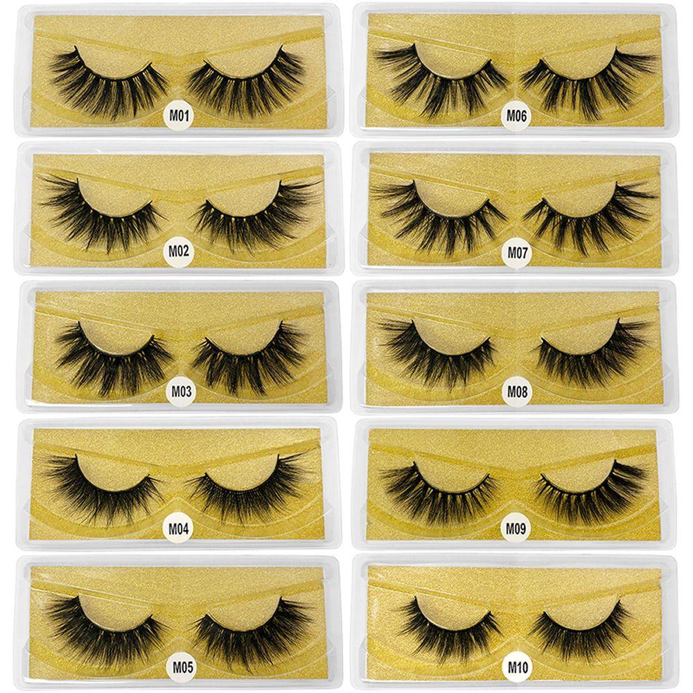 Großhandel Mink Wimpern 3D Mink Wimpern Bulk Wimpernverlängerung Natürliche falsche Wimpern Make-up Lange Wimpern