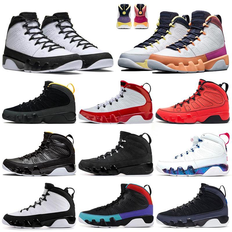 Jumpman 9s 9 Satin رجل حذاء كرة السلة PE أورلاندو ماجيك جامعة الذهب UNC الصالة الرياضية الأحمر الرجال في الهواء الطلق مدرب أحذية رياضية 7-13