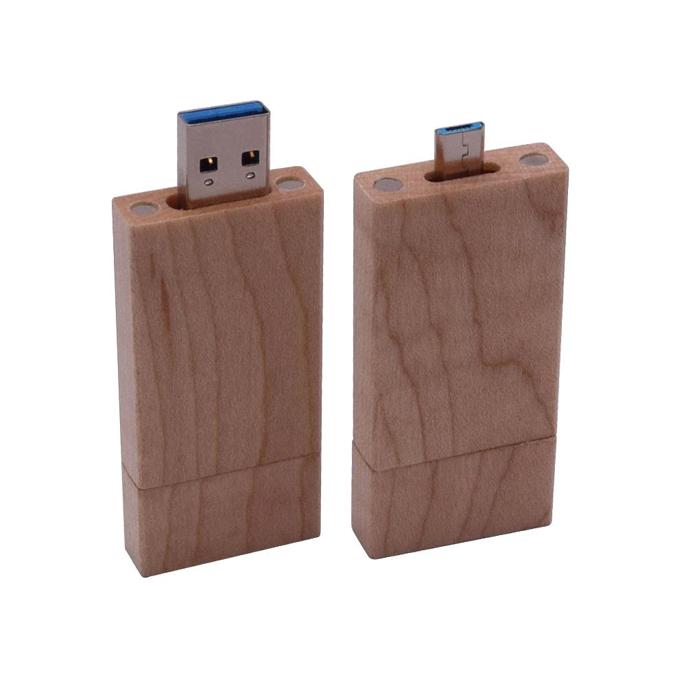 Wooden OTG usb pendrive USB3.0 flashdrive pen drive customized dark flash 128gb U stick