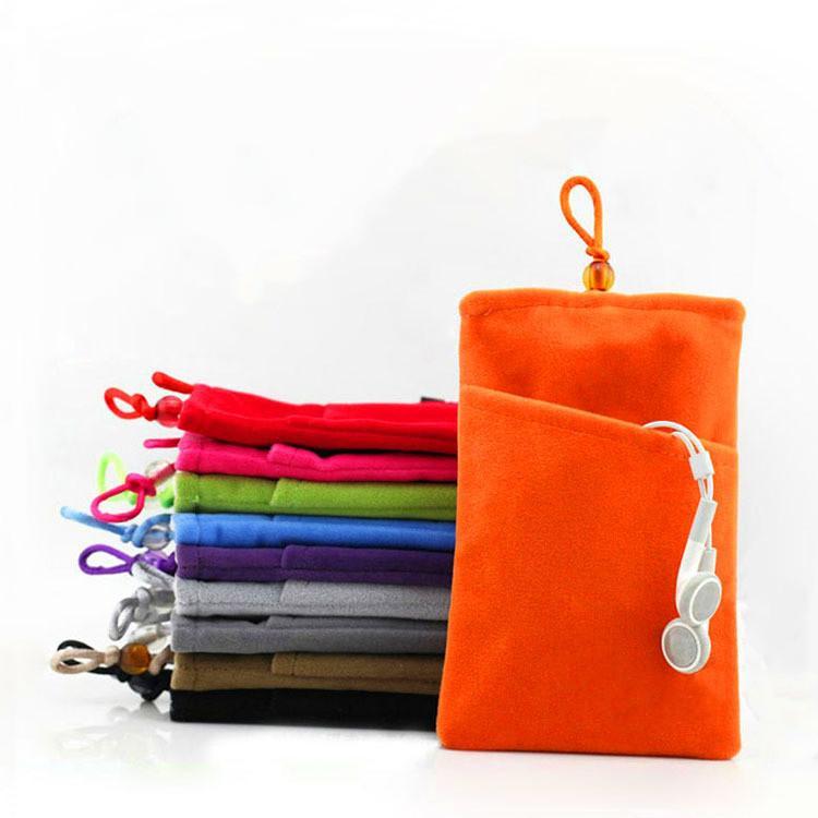 Многофункциональные маленькие бархатные наушники подарочные сумка сумка сотовый телефон чехлы с ручкой из тканевой крышки для iPhone 6 7 Plus X XR 11 Pro Max 12 Samsung Note 20