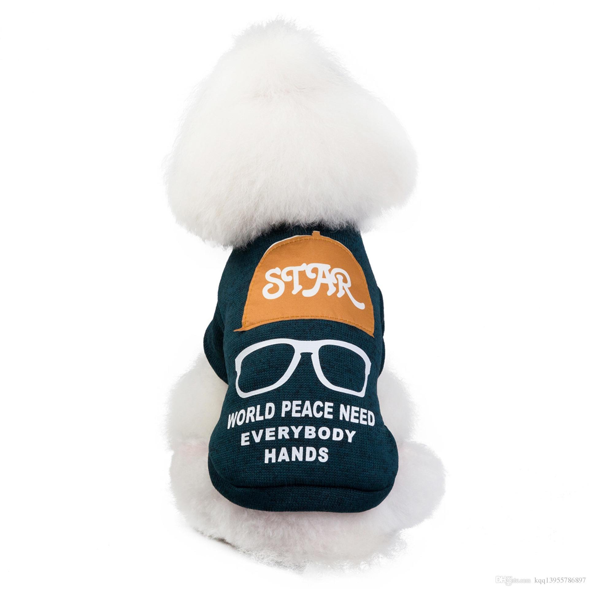 Haustierhundkleidung Kleidung und Zubehör Herbst- und Wintermode Neue Best-Selling-Spot Großhandel 19 Gläser Hut Pullover