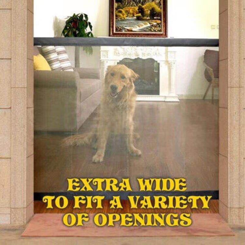 Dropshipping New Arrival Dog Gate ingénieux Magic Magic Porte d'animaux de compagnie pour chiens Garde à sécurité et installez des clôtures de boîtier de sécurité pour chien de compagnie