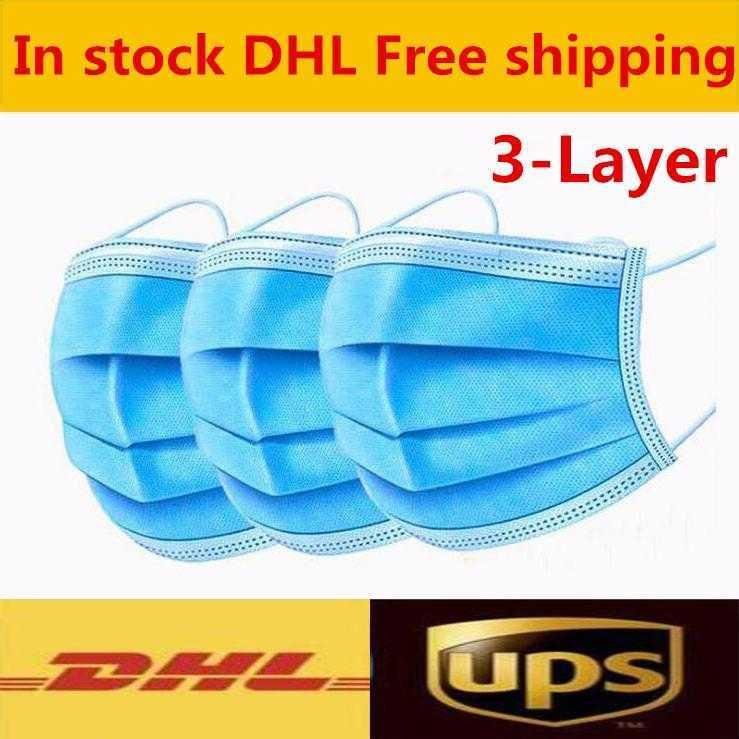 Fashionable Disposable Comfortable Breathable Blue Mask Elastic Earring 3 Layer Dust And Pollution Prevention Sunscreen Mask
