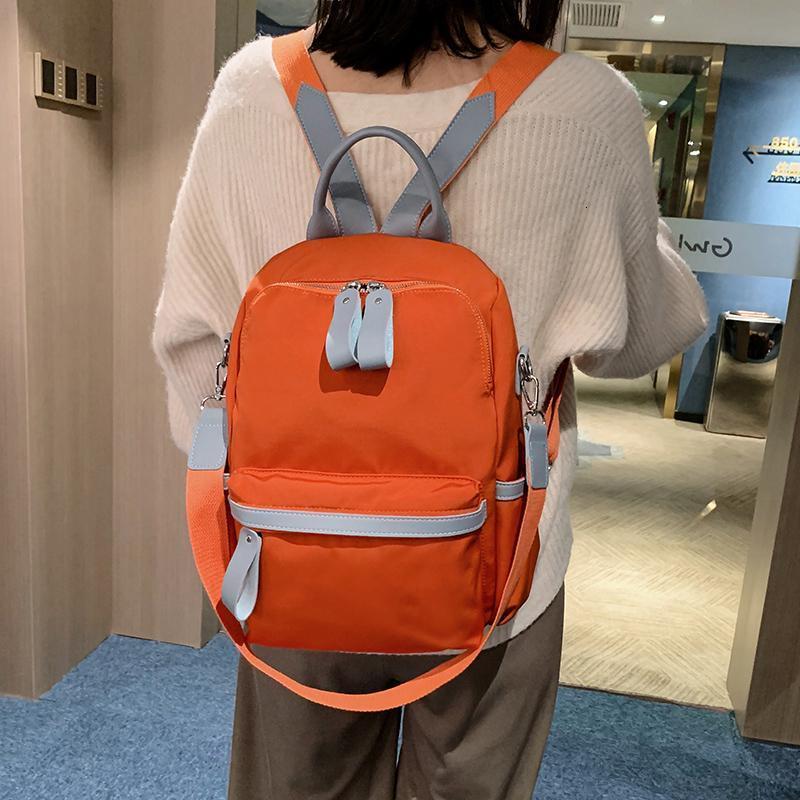 야외 가방 다기능 여성 배낭 방수 여행 노트북 배낭 여성 여자 어깨 가방 더블 지퍼 바이킹
