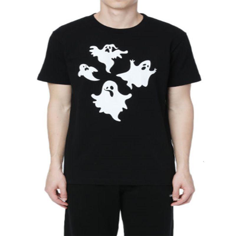 2021 primavera estate manica corta Ghost stampato T-shirt sportiva per uomo e donna