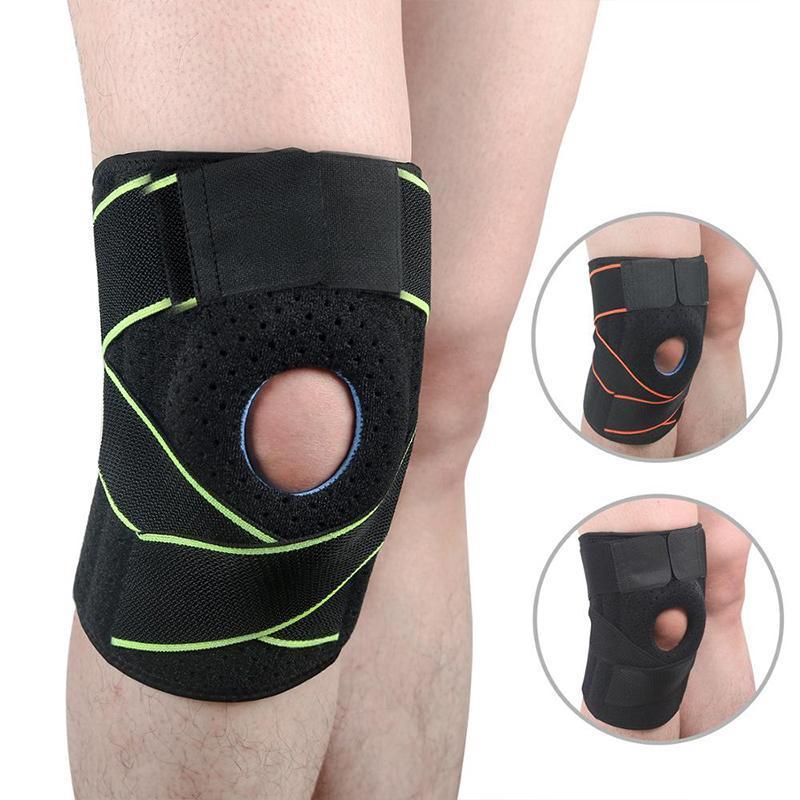 1 Шт. Дышащий Kneepad Регулируемые эластичные спортивные ноги на коленях Поддержка на коленей