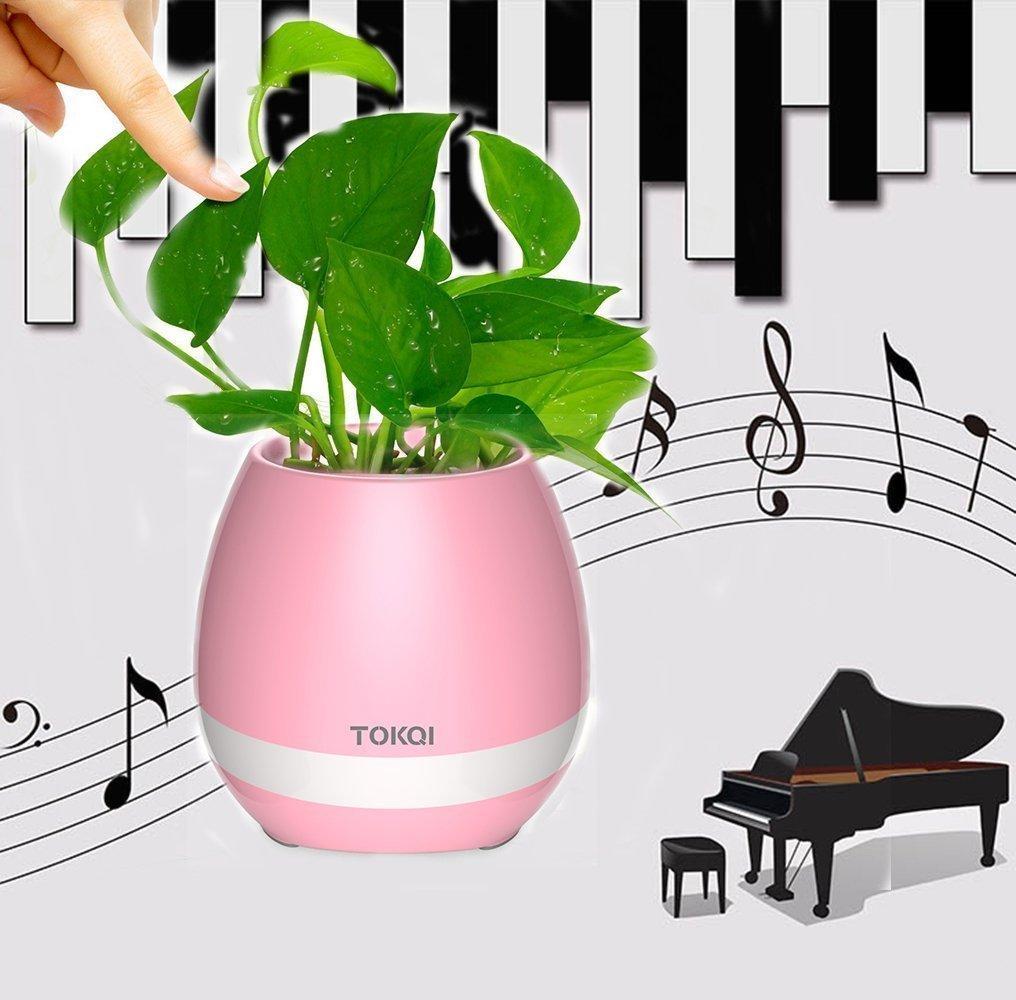 음악 화분 블루투스 스피커 라이트 호흡 스마트 냄비 재생 식물 충전식 야외 사무실 홈