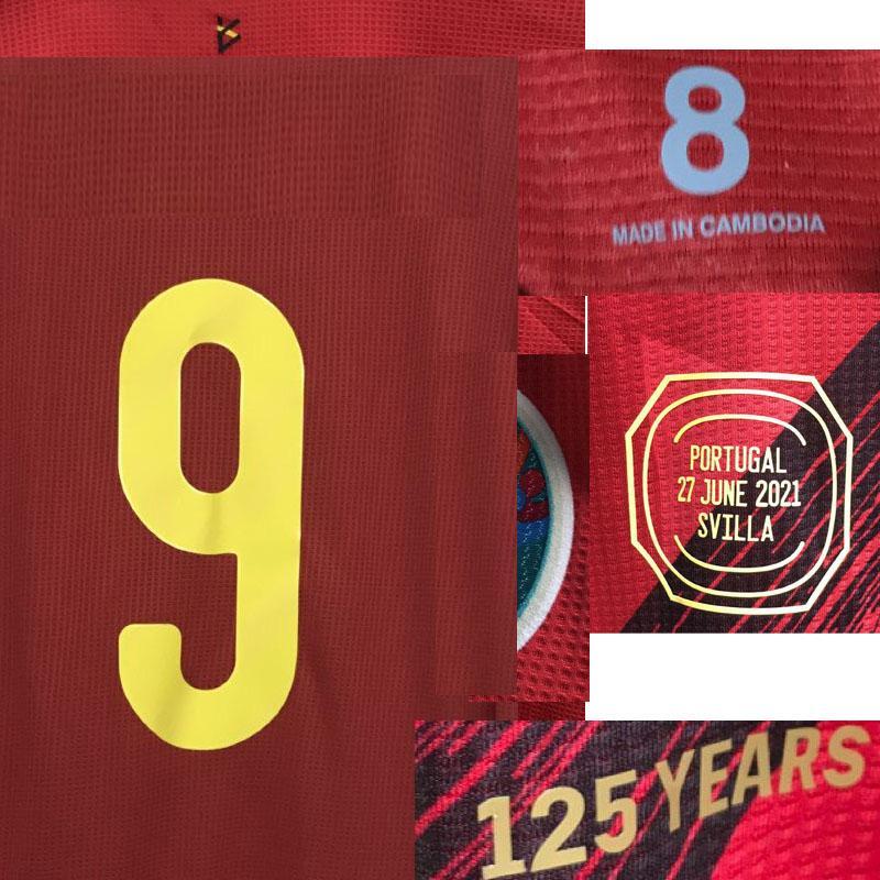 American College Football Wear 2021 Jogador desgastado Edição Lukaku com MatchDetail Camiseta Maillot