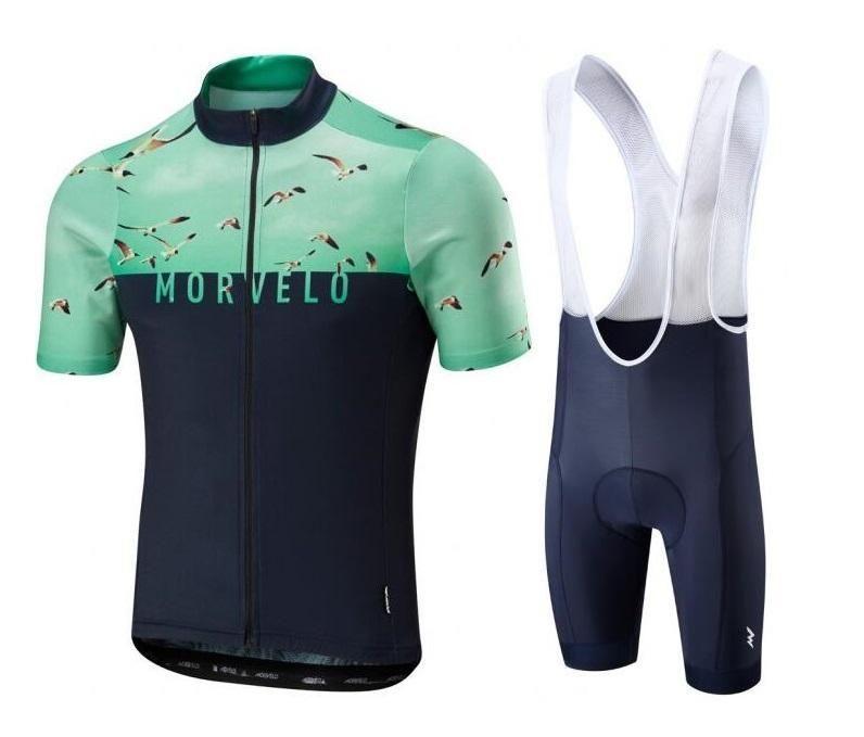 Racing Sets Morvelo Team 2021 Велоспорт Джерси с коротким рукавом Одежда MTB Bike Мужчины Летний Стиль Гель Спортивная одежда