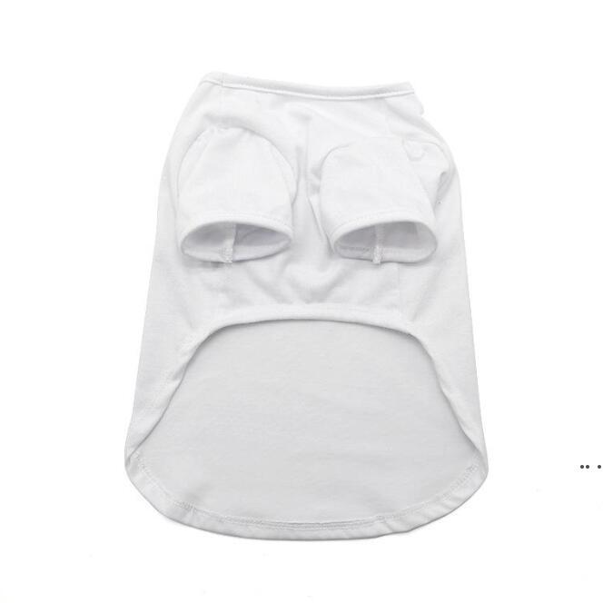 Sublimación en blanco Blanco Chaleco DIY PET PET PET MANGE FLEVESS VESTIDO PEQUEÑO PET PET TRANSFERENCIA TRANSFUMCIÓN Imprimir T-shirt DHC6358