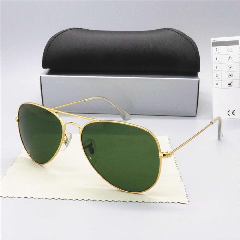 Brand Linse Gläser Verkauf Pilot Benrahmen Sun Vintage Band UV400 Männer Glas Frauen Metall Sonnenbrille Box heiß mit Marke Pffua