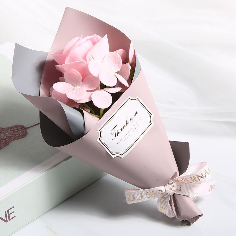 Fabbrica all'ingrosso creativo singolo rose mano 2021 rosso blu sapone fiore rosa festa della mamma mini bouquet evento regalo di compleanno