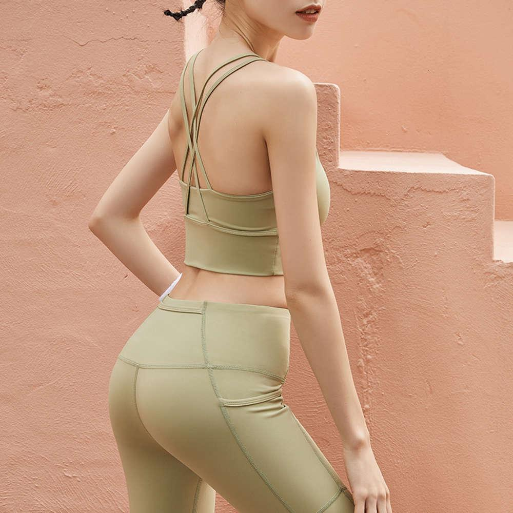 Sports suspender underwear women's summer riding and beauty back gathering and shaping anti sagging bra tracksuit