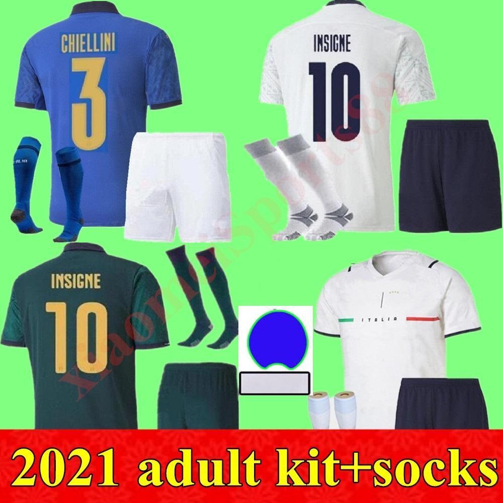 2021 kits para adultos hombres Italia Jerseys de fútbol 20 21 Hogar lejos 3rd Buffon Pirlo Zaza de Rossi Bonucci Verratti Camisa de Fútbol
