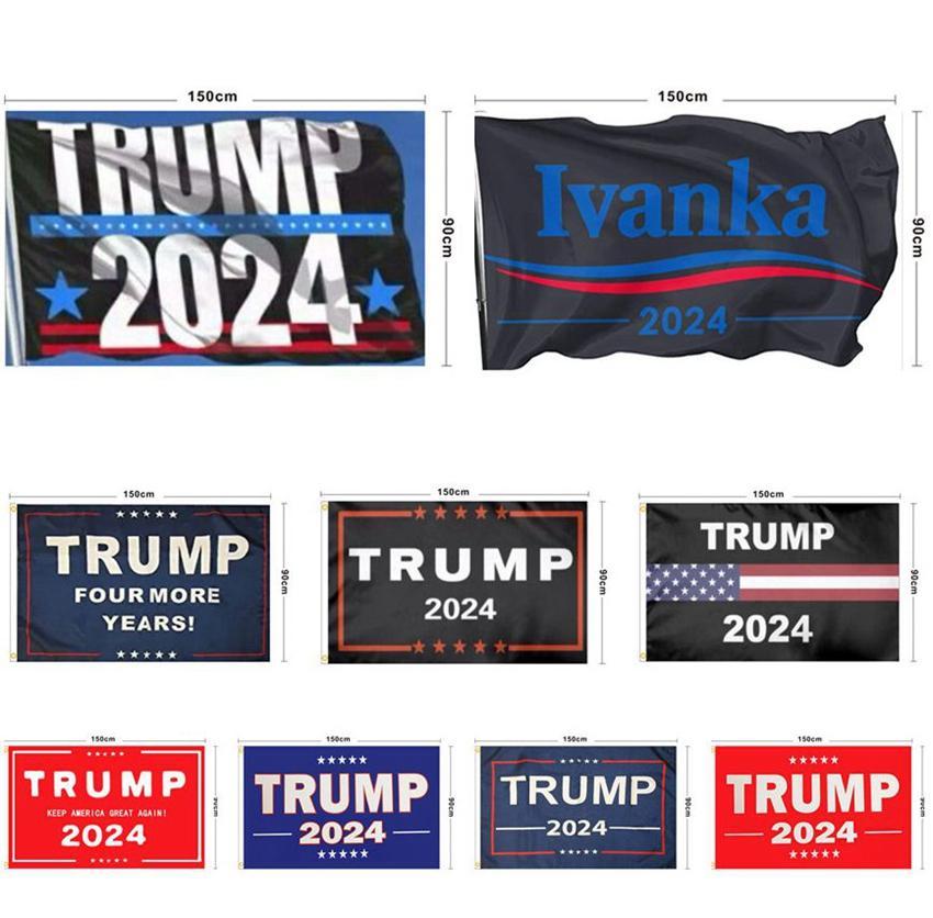 Trump 2024 Presidente Bandiera 90 * 150 cm Le regole hanno cambiato flag indoor outdoor rendono l'America Grande di nuovo Trump 2024 Presidente Bandiera KKA8331