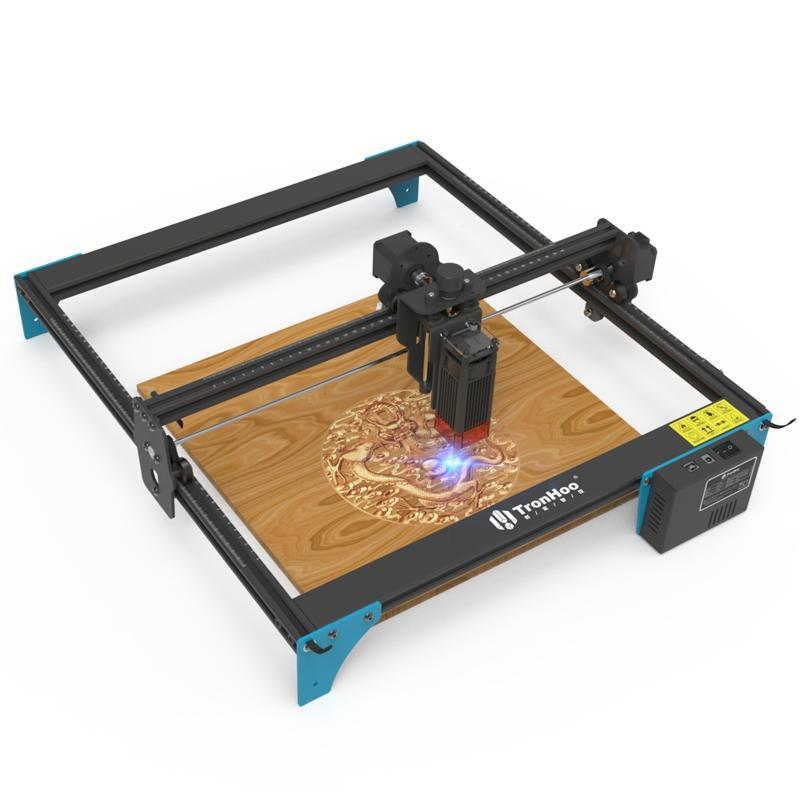 Printers LC400 PRO 50W Laser Engraver DIY Engraving Machine Fixed-focus Cutter With 400x400mm Area For Metal