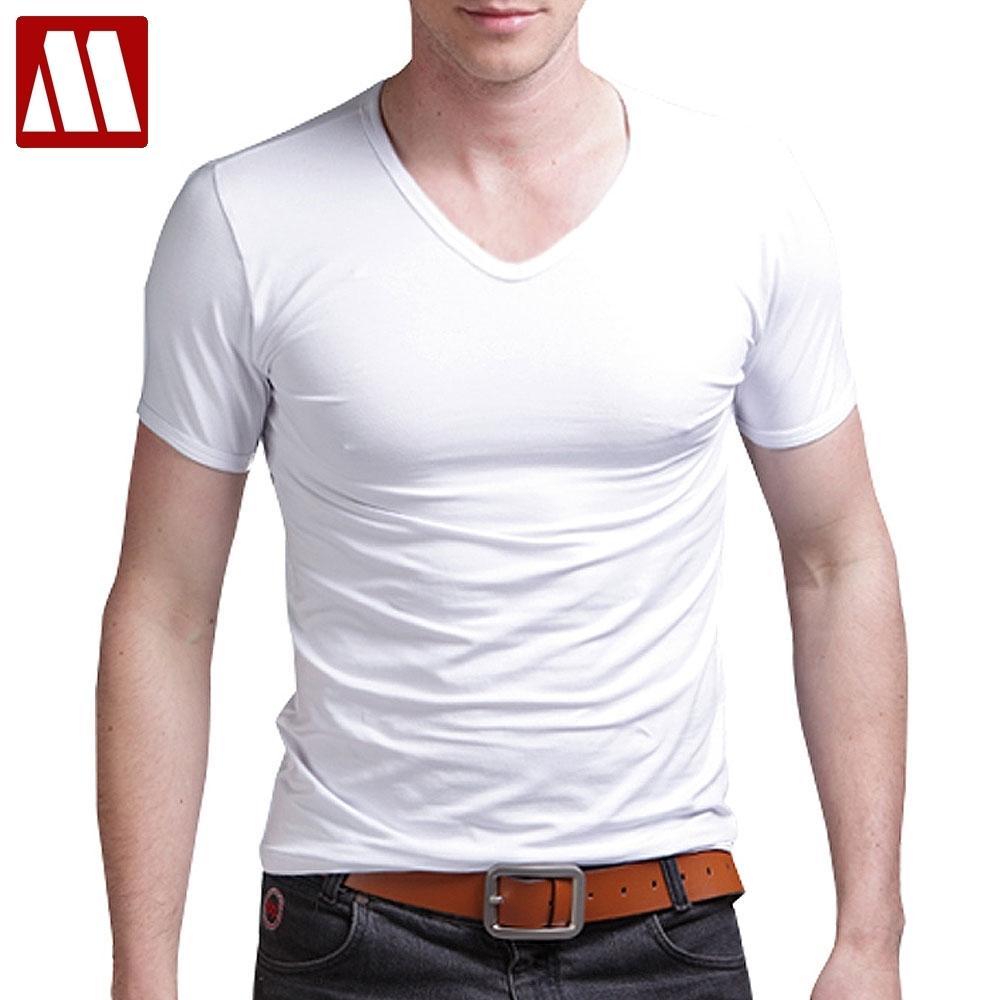 mydbsh 탄성 면화 남성 T 셔츠 남자 5xl 피트니스 남자 Tshirt 티셔츠 옴므 패션 V 넥 반팔 솔리드 2021 캐주얼 210301