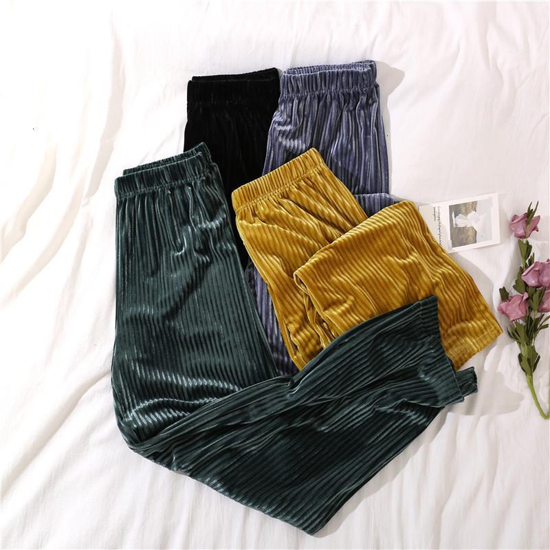 2021 зимняя высокая талия брюки женские кордаверы широкогазовая новая женщина теплые моды случайные осенние шикарные брюки 7lnx